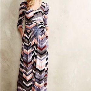 "Maeve ""Novela"" Maxi Dress Chevron Colorful XS"